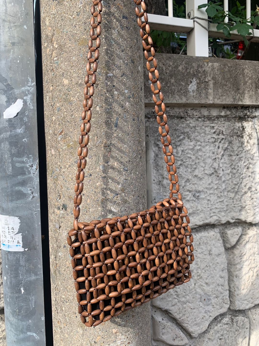 brown wood bag (SALE!)