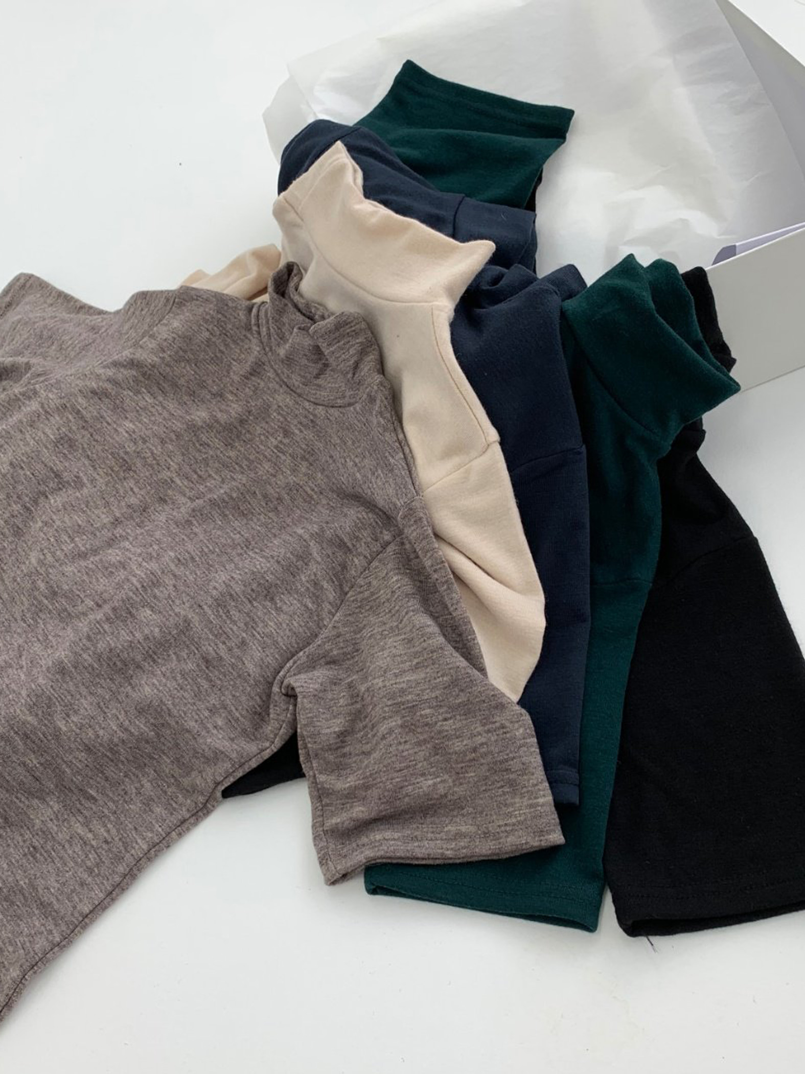 turtleneck half tee (5color)
